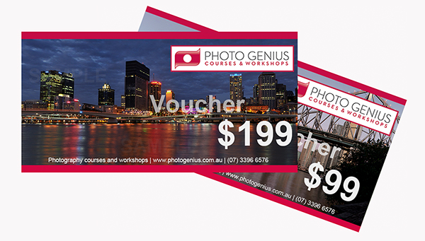 Photography courses Brisbane gift vouchers